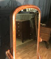 Victorian Walnut Cheval Mirror (6 of 12)