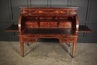 Beautiful Large Flame Mahogany Cylinder Desk (21 of 30)
