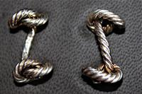 Superb Pair of Hermes of Paris Silver Hallmarked Cufflinks in their Original Box (2 of 7)
