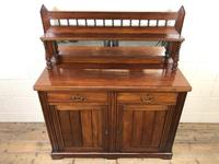 Antique Mahogany Sideboard with Mirror Back (6 of 13)