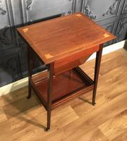 Edwardian Inlaid Mahogany Sewing Box (7 of 11)