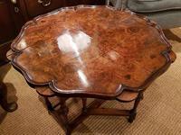 Superb Antique Burr Walnut Drop Leaf Coffee Table (2 of 6)