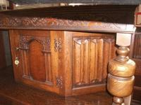 Grape Carved Oak Court Cupboard (2 of 3)