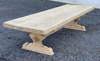 Huge French Bleached Oak Farmhouse Dining Table (14 of 34)