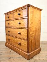 Victorian Satin Birch Chest of Drawers (5 of 9)