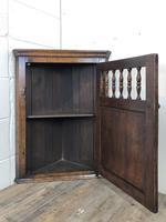 Small Oak Wall Hanging Corner Cupboard (4 of 9)