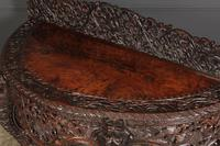 19th Century Burmese Carved Console Table (3 of 16)