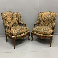 Pair of French Wing Armchairs (7 of 9)
