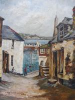 Oil on Canvas Cornish Sea View Listed Artist Dora Johns 1966 (9 of 10)