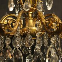 Italian Gilded & Crystal 12 Light Antique Chandelier (4 of 9)