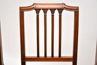 Set of 4 Antique Mahogany & Leather Dining Chairs (9 of 11)