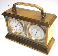 Fine Antique French 8-day Combination Thermometer, Clock & Barometer Carriage Clock Timepiece by Frodsham c.1890 (5 of 10)