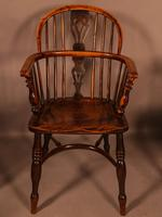 A Set of 4 Yew Tree Windsor Chairs Rockley Workshop (21 of 21)