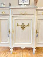French Oak Sideboard / Buffet / Cupboard Topped in Statuario Marble (5 of 10)