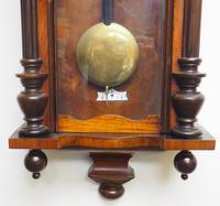 Great Antique German Twin Walnut 8-Day Mantel Clock Vienna Striking Wall Clock (9 of 11)
