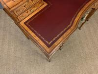 Inlaid Satinwood Carlton House Desk by Jas Shoolbred (2 of 25)