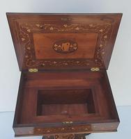 Rare 19th Century Marquetry Inlaid Irish Killarney Work Box or Table (11 of 13)