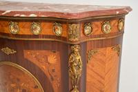 Antique French Inlaid Marquetry  Marble Top Cabinet (4 of 12)
