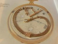 Antique Pocket Watch Chain 1890s Victorian 12ct Rose Gold Filled Albert With T Bar (2 of 12)