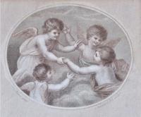 Francesco Bartolozzi 1791 Print after John Howes, 18th Century Colour Impression, Period Frame (4 of 6)