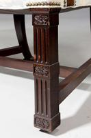 Chippendale Design Mahogany Framed Library Chair (4 of 4)