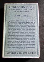 1930 1st Edition of Rudi Schneider Examination of His Mediumship