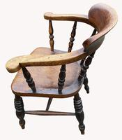 19th Century Smokers Bow Armchair (3 of 4)