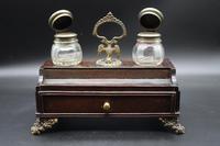 George III Period Mahogany & Gilt Bronze Desk Set (2 of 6)