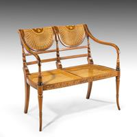 Elegant Early 20th Century Satin Mahogany Salon Suite (2 of 8)