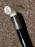Antique J.Howell Hallmarked 1898 Repousse Silver Dress Cane W/ Vacant Cartouche (4 of 12)