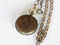 Antique Eterna Schild Fréres  gun metal pocket watch (4 of 4)