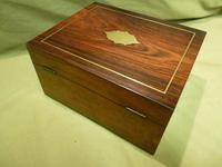 Unisex Rosewood Fitted Jewellery – Dressing Box. c1835 (6 of 12)
