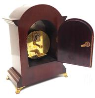 Impressive Mahogany Edwardian Bracket Clock Timepiece Mantel Clock (6 of 8)