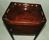 George III Mahogany Tray Top Bedside Cabinet (3 of 9)