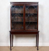 Edwardian Glazed Bookcase Cabinet on Stand Astragal Mahogany (6 of 11)