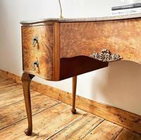 Burr Walnut Dressing Table / Desk / Vanity Table / Sideboard (5 of 5)