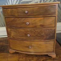 Burr Walnut Miniature Chest of Drawers 20th Century (3 of 6)