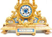 Stunning Quality French Mantel Clock Urn Top Blue Sevres Porcelain Mantle Clock. (10 of 12)