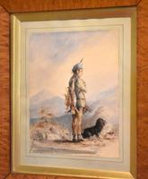 Early Victorian Watercolour of a Scottish Gillie (5 of 8)