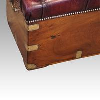 Victorian Leather Camphor Wood Ottoman (4 of 10)