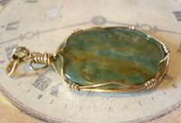 Vintage Pocket Watch Chain Fob 1970s 12ct Gold Plated & Irish Connemara Marble Fob (2 of 10)