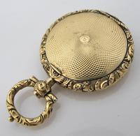 Rare Gold Georgian Novelty Mourning Vinaigrette c.1820 (3 of 6)