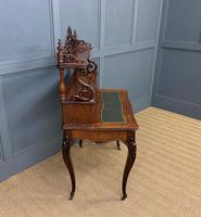 19th Century Plum Pudding Mahogany Bonheur Du Jour (11 of 19)