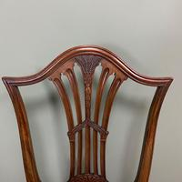 Set of 8 Hepplewhite Design Antique Mahogany Dining Chairs (5 of 10)