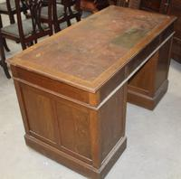1920s Oak Desk with Red Leather on Top . 1 Piece. (3 of 3)