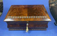 William IV Flame Mahogany Jewellery Box (10 of 20)