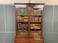 Good Edwardian Inlaid Mahogany Bookcase (9 of 16)