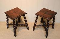 Pair Of Carved Oak Tables (6 of 9)