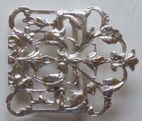 Victorian London 1894 Hallmarked Solid Silver Nurses Belt Buckle (7 of 9)