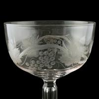 Fine Pair of Engraved Champagne Glasses (3 of 8)